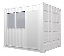 Containerised remote off grid communications 10ft